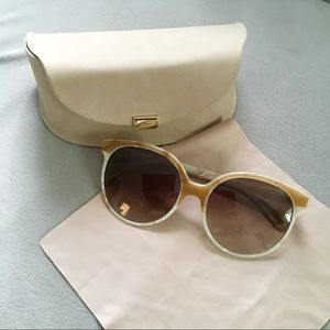 Chloe CE733S Tan Cream Oversize Sunglasses